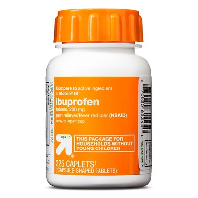 Ibuprofen (NSAID)200mg Pain Relief & Fever Reducer Caplets Easy Open Cap- 225ct - Up&Up™
