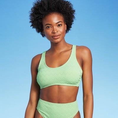 Juniors' Textured Bralette Bikini Top - Xhilaration™ Pistachio