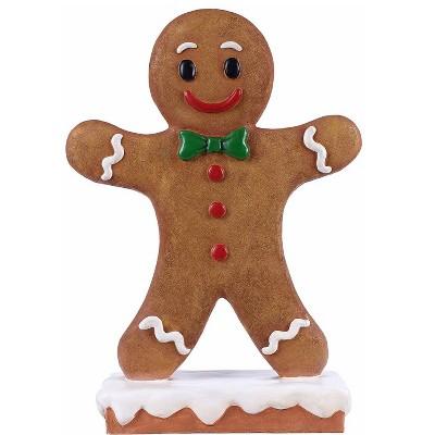 "27"" Polyresin Gingerbread Boy Christmas Statue Brown - Hi-Line Gift"