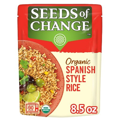 Seeds of Change Organic Spanish Style Rice Mix Microwavable Pouch - 8.5oz