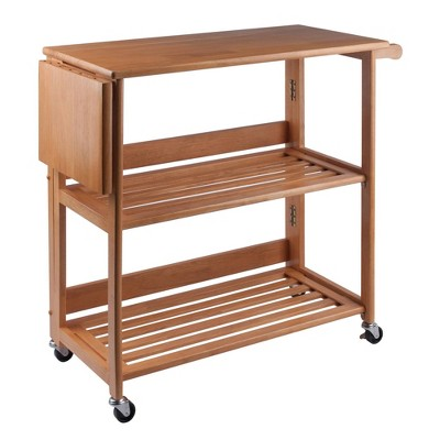 Foldable Cart Wood/Light Oak - Winsome