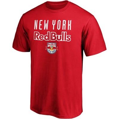 MLS New York Red Bulls Men's Short Sleeve Crew Neck Core T-Shirt