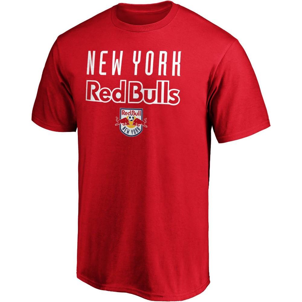 Mls New York Red Bulls Men 39 S Short Sleeve Crew Neck Core T Shirt M