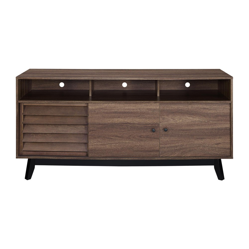 Granite Hill Retro Tv Stand For Tvs Up To 60 - Brown Walnut - Room & Joy