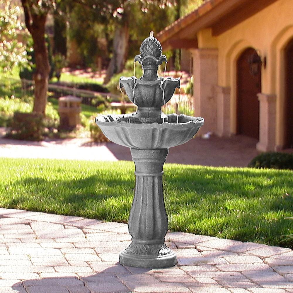 38 H Resin Outdoor Fountain - Saint Tropez, Golden Bronze
