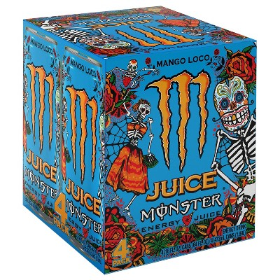 Monster Juice Mango Loco Energy + Juice Drink - 4pk/16 fl oz Cans