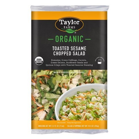 Taylor Farms Organic Toasted Sesame Chopped Salad Kit - 12.8oz - image 1 of 1