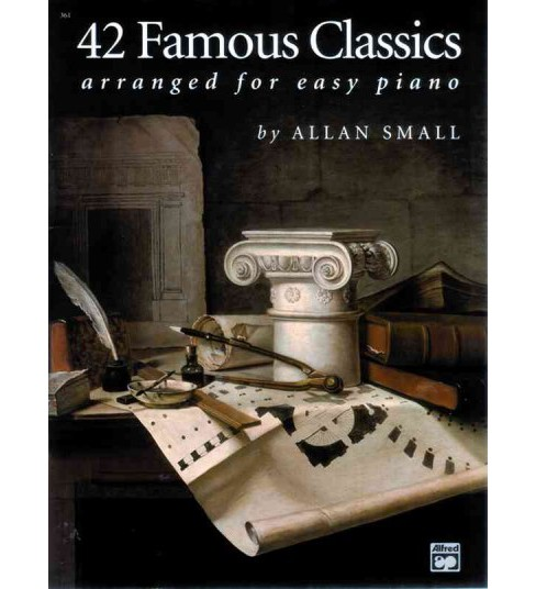 42 Famous Classics Arranged for Easy Piano -  (Paperback) - image 1 of 1