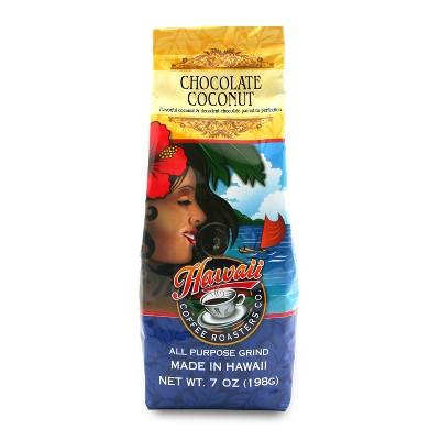 Hawaii Coffee Roasters Chocolate Coconut Medium Roast Ground Coffee - 7oz