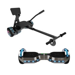 Hover-1 Chrome 2.0 Hoverboard/Buggy Combo - Black