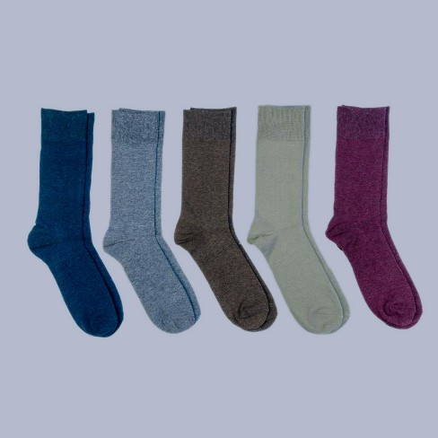 Men's Big & Tall Flat Knit Dress Socks 5pk - Goodfellow & Co™ 13-16 - image 1 of 2