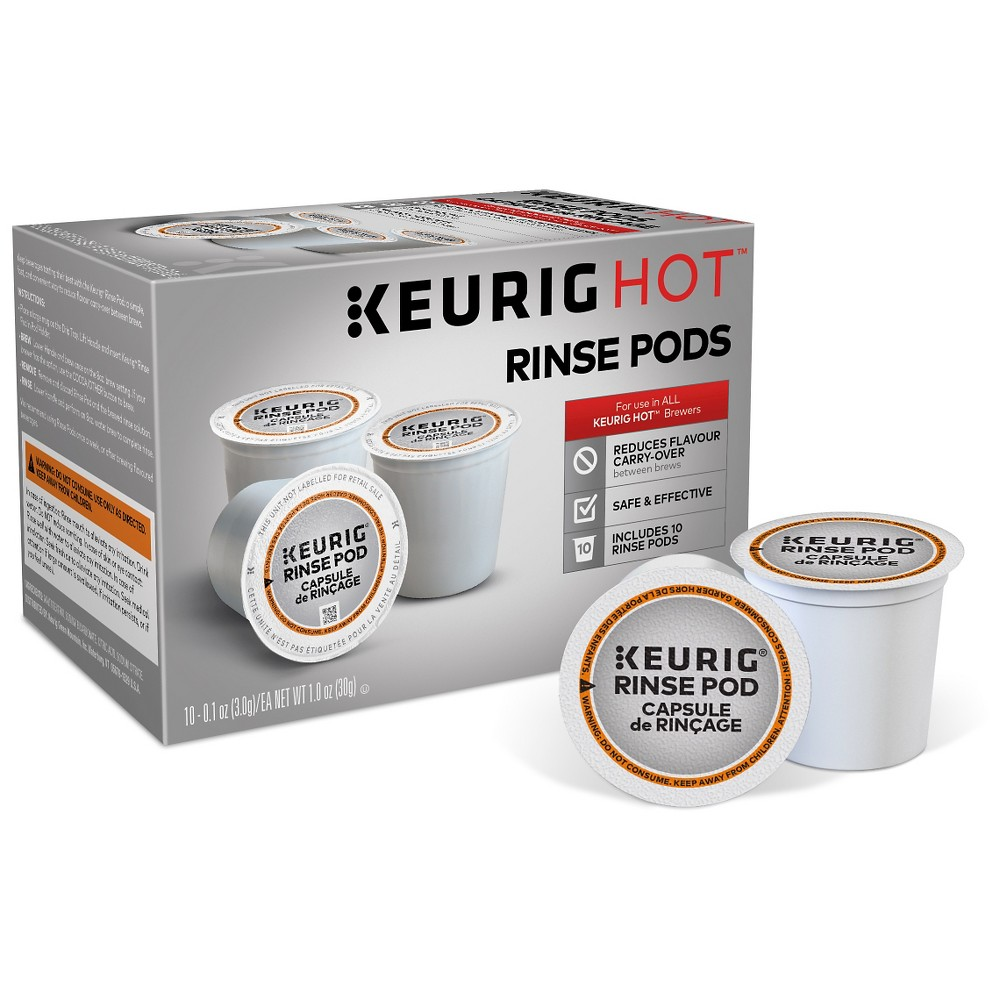 Keurig Set of 10 Rinse Pods, Black 51141944