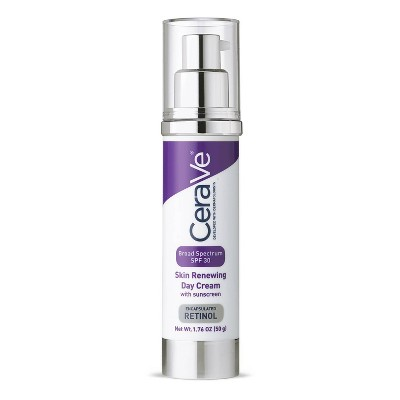 CeraVe Skin Renewing Retinol Day Face Cream with Sunscreen, Broad Spectrum SPF 30 - 1.76oz