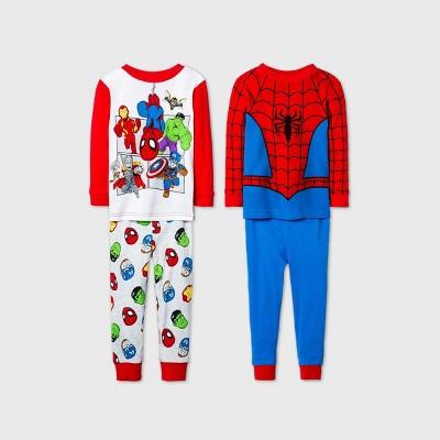 Toddler Boys' 4pc Spider-Man Pajama Set - Blue 12M