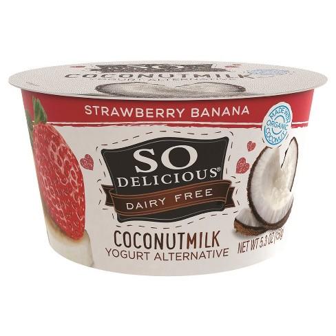 So Delicious Dairy-Free CoconutMilk Strawberry Banana Yogurt Alternative - 5.3oz - image 1 of 1