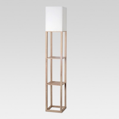 Shelf Floor Lamp Light Wood Includes Energy Efficient Light Bulb - Threshold™