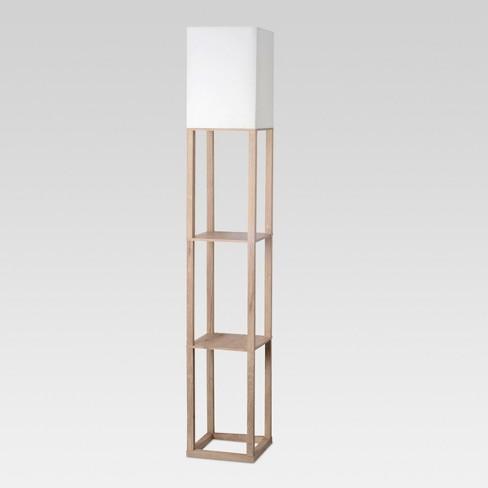 Shelf Floor Lamp Light Wood Includes