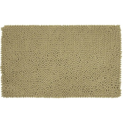"17""x24"" Chunky Chenille Memory Foam Bath Rug Taupe - Room Essentials™"