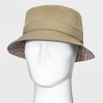 Men's Chino Bucket Hat - Goodfellow & Co™ Khaki L/XL