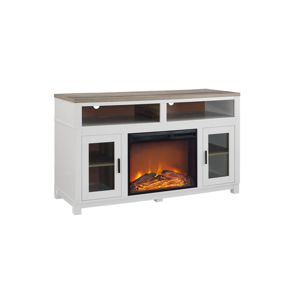 Paramount Electric Fireplace TV Stand for TVs up to 60 - White - Room & Joy
