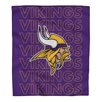NFL Minnesota Vikings Echo Team Wordmark Plush Blanket