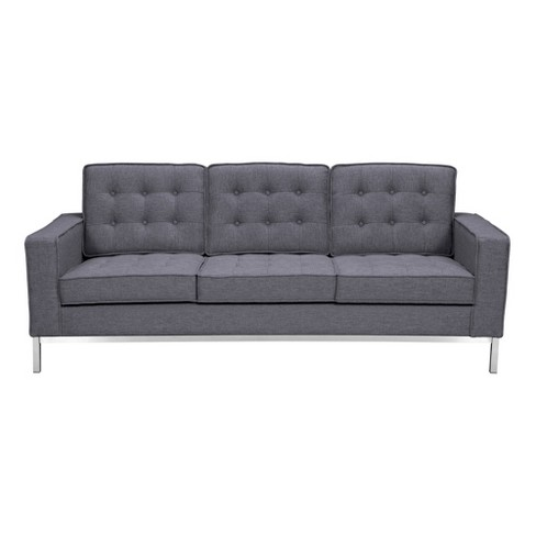 Chandler Contemporary Sofa Dark Gray - Armen Living