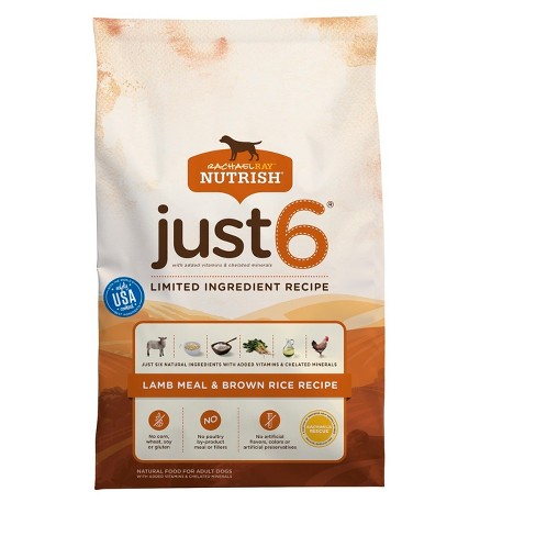 Rachael Ray Nutrish Just 6 Natural Dry Dog Food  Lamb Meal & Brown Rice Recipe - image 1 of 2