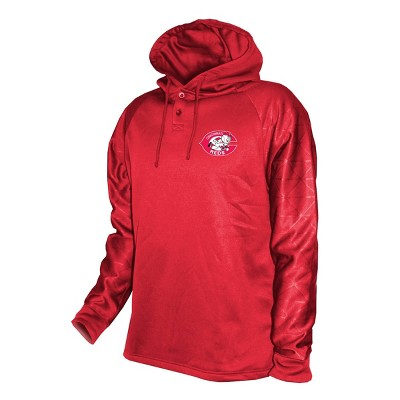 MLB Cincinnati Reds Men's Hooded Henley Pullover