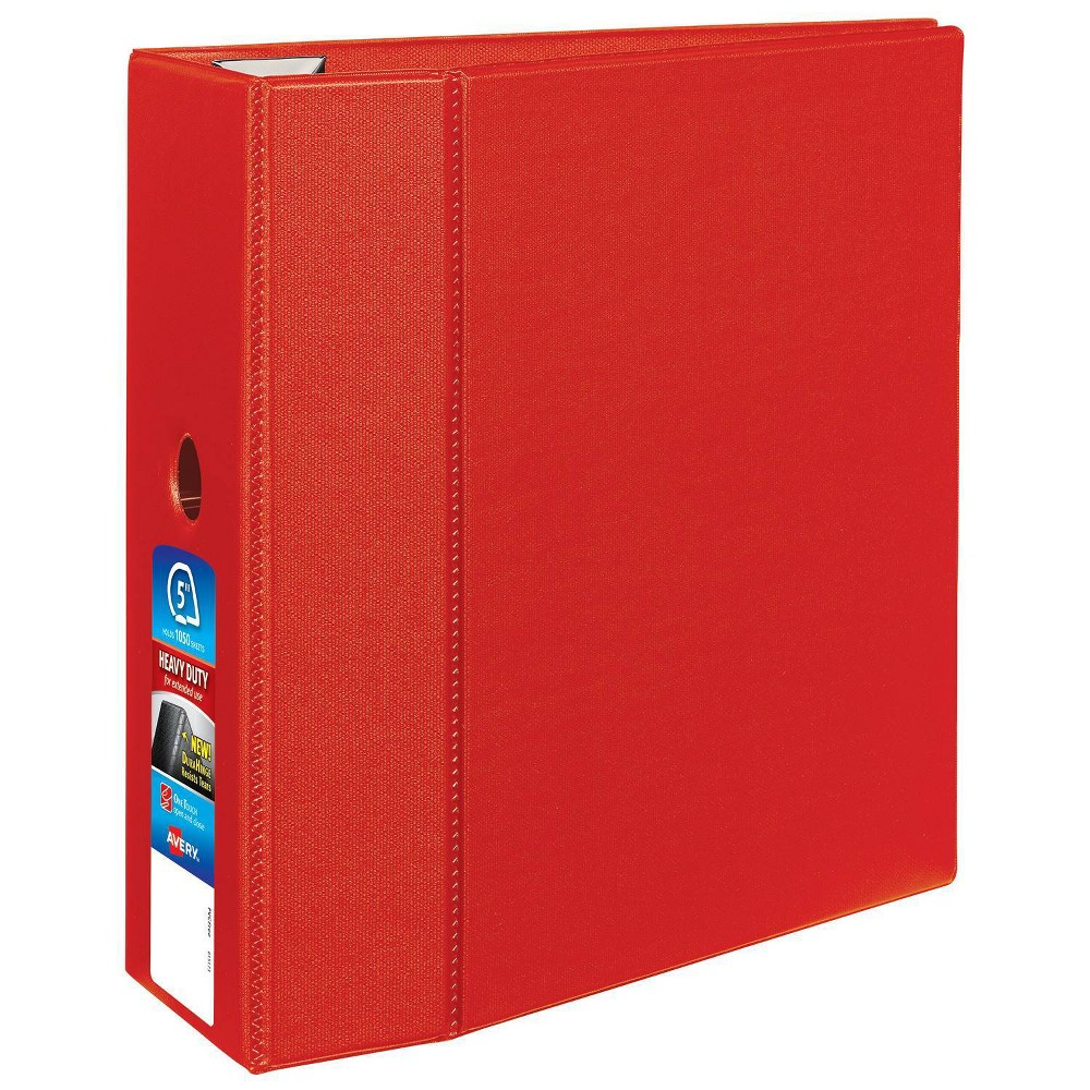 "Image of ""Avery 1050 Sheet 5"""" Heavy-Duty Ring Binder Red"""