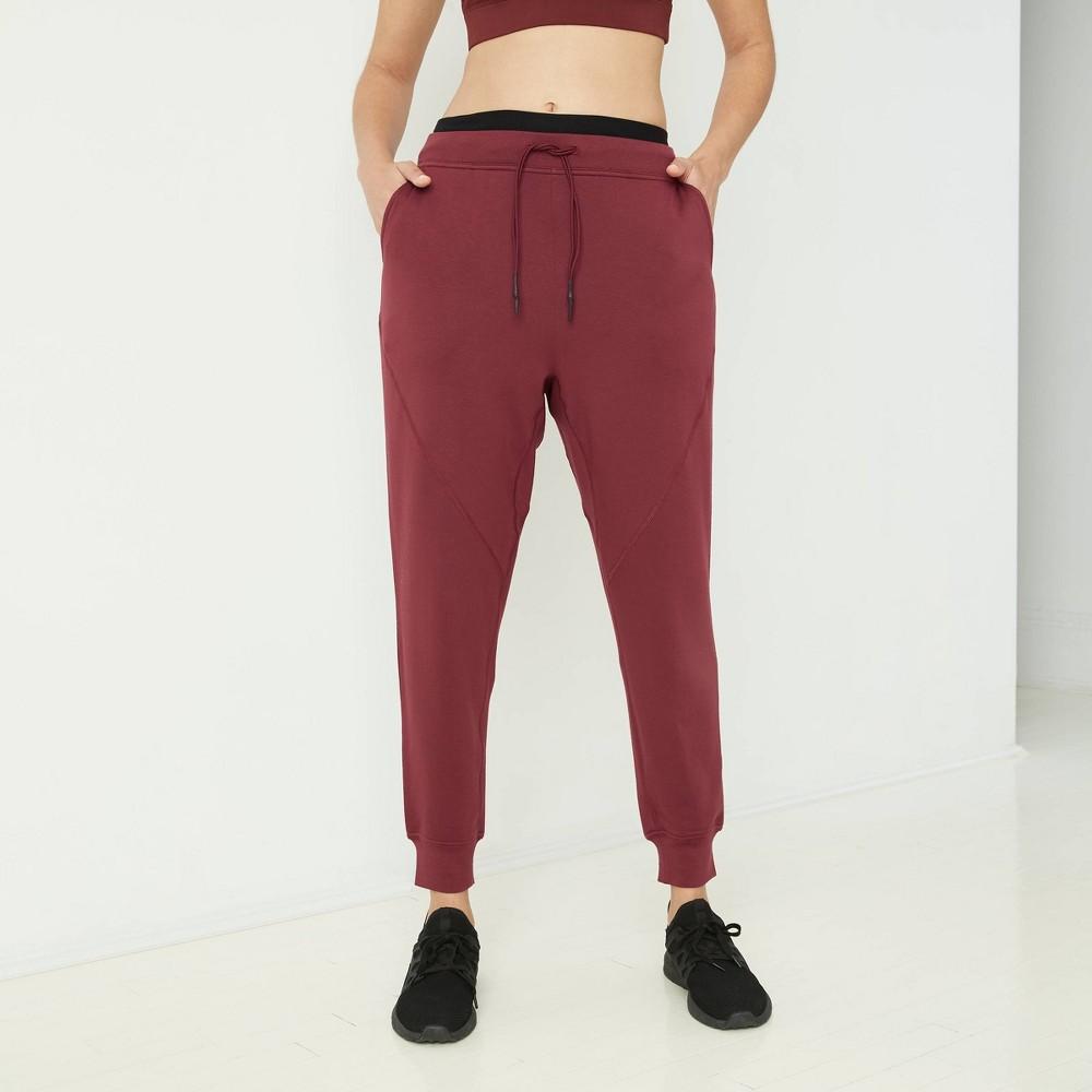 Women 39 S Mid Rise Cozy Jogger Pants With Drawstring Joylab 8482 Port Xs