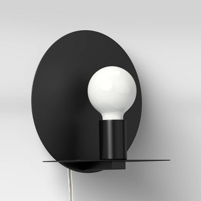 Circle Sconce Wall Light (Includes LED Light Bulb) Black - Project 62™