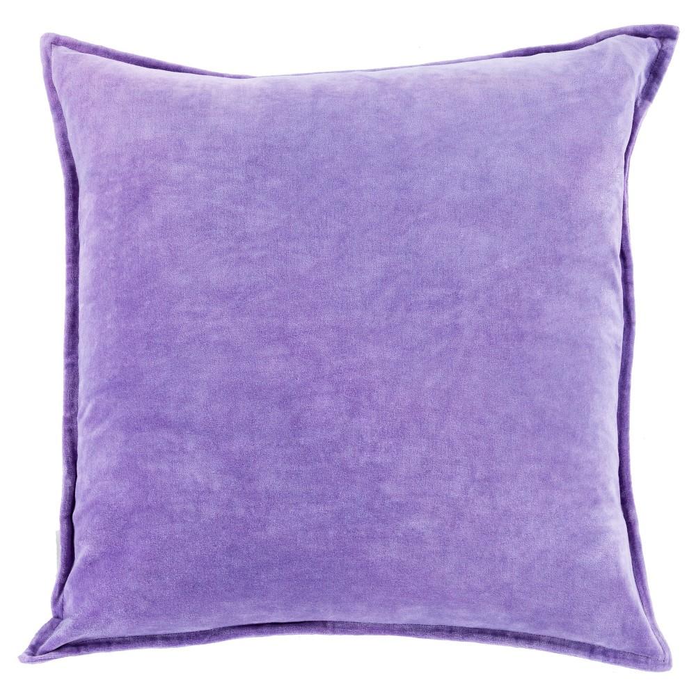 White Velizh Handmade Throw Pillow (18x18