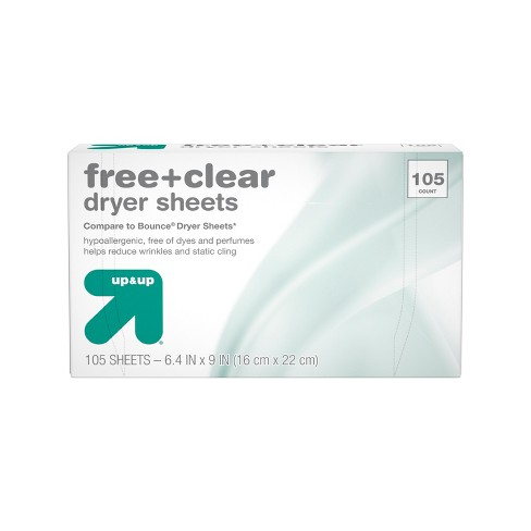 Up&Up™ Free & Clear Fabric Softener Dryer Sheets - 105ct (Compare to Bounce® Dryer Sheets) - image 1 of 3