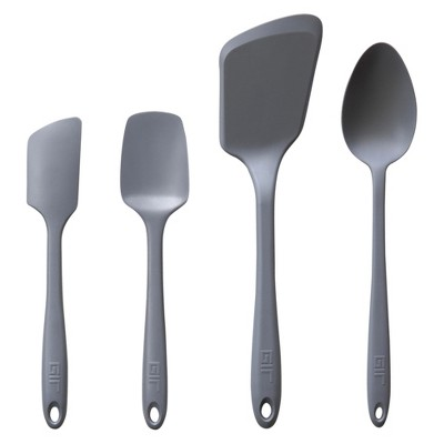 GIR Ultimate Silicone Kitchen Tool 4pc Set Gray