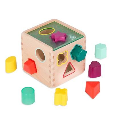 B. toys Wooden Shape Sorter - Wonder Cube