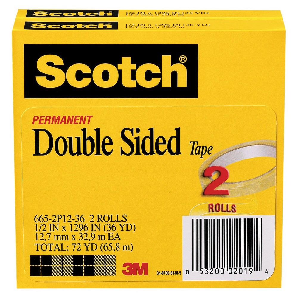 Scotch Double Sided Tape 2 Per Pack