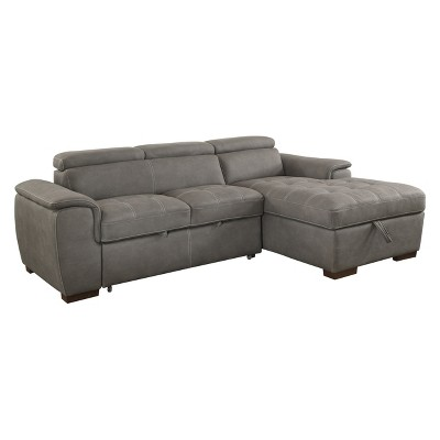 Cummingham Converting Chenille Sectional Sofas - HOMES: Inside + Out