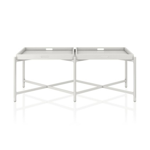 Coco Coffee Tray Table White Cosmoliving By Cosmopolitan