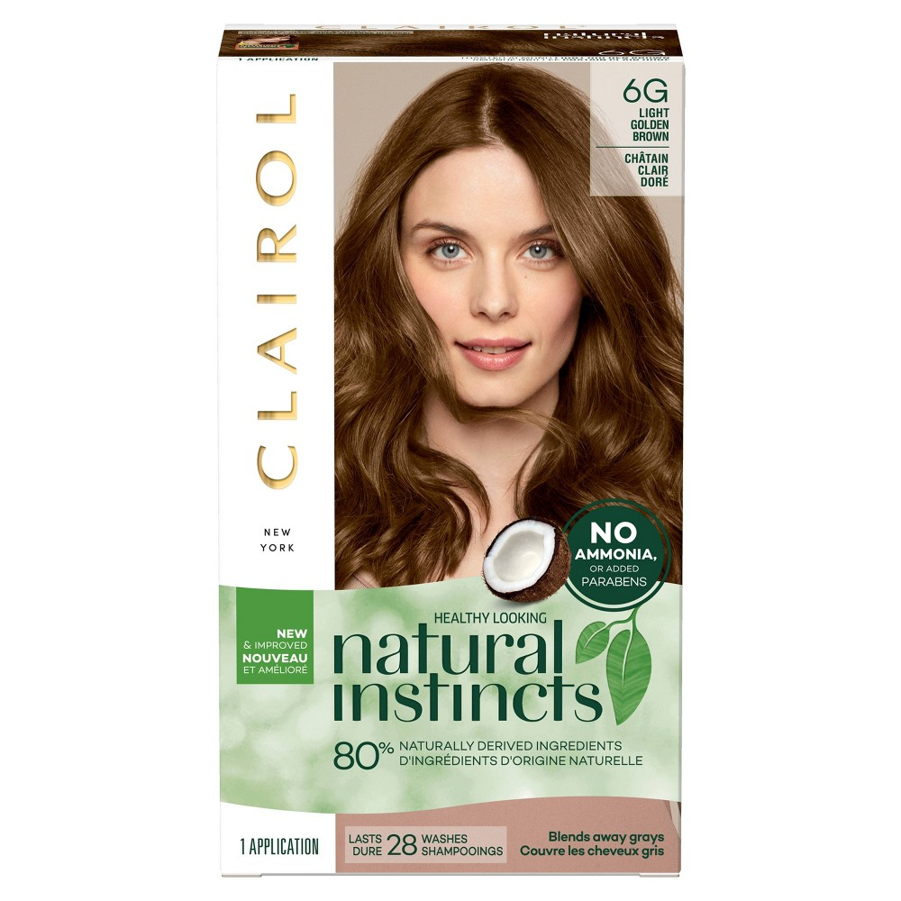 Image of Natural Instincts Clairol Non-Permanent Hair Color - 6G Light Golden Brown, Toasted Almond - 1 Kit, 6G-Light Golden Brown
