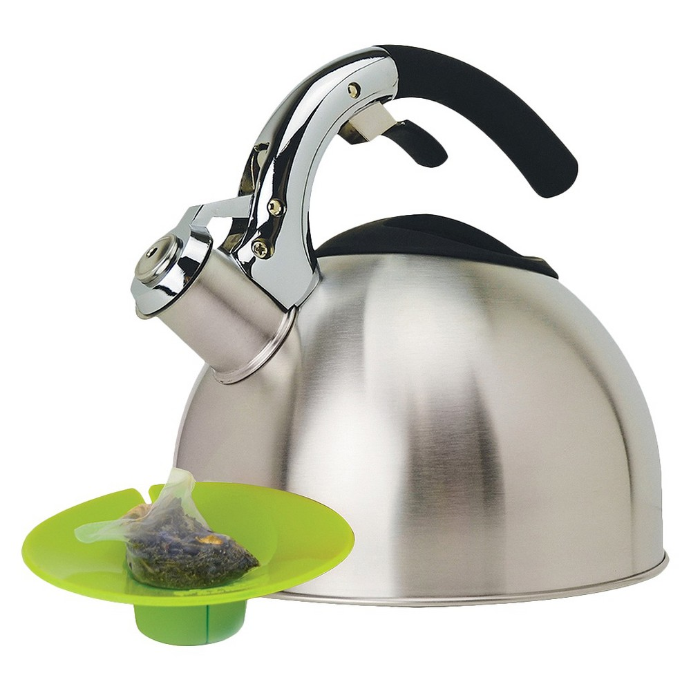 Primula Whistling Kettle with Tea Bag Buddy - Stainless Steel (Silver)
