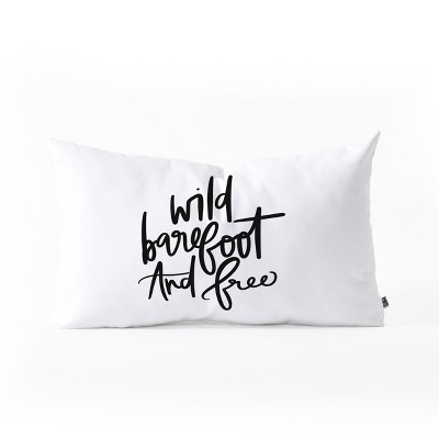 Chelcey Tate Wild Barefoot And Free Lumbar Throw Pillow Throw Pillow White - Deny Designs