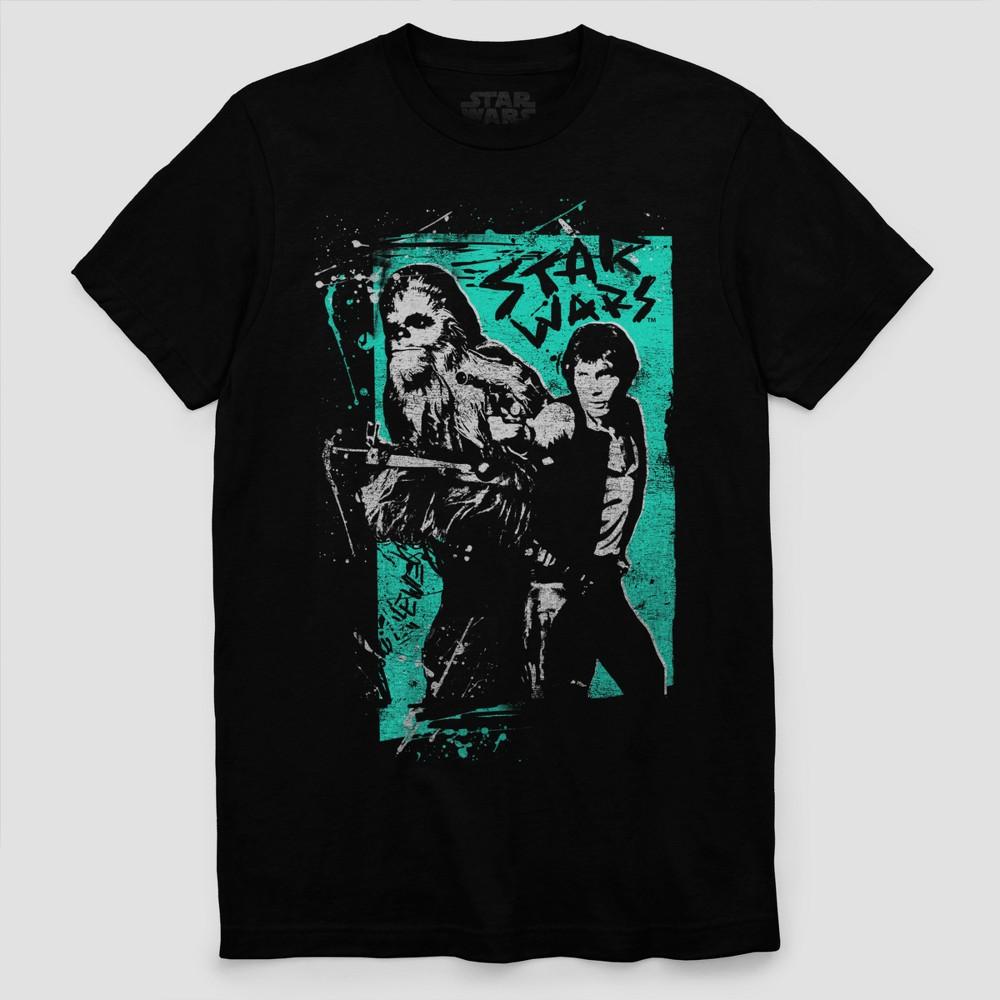 Men's Star Wars Han Solo & Chewie Short Sleeve T-Shirt - Black 2XL