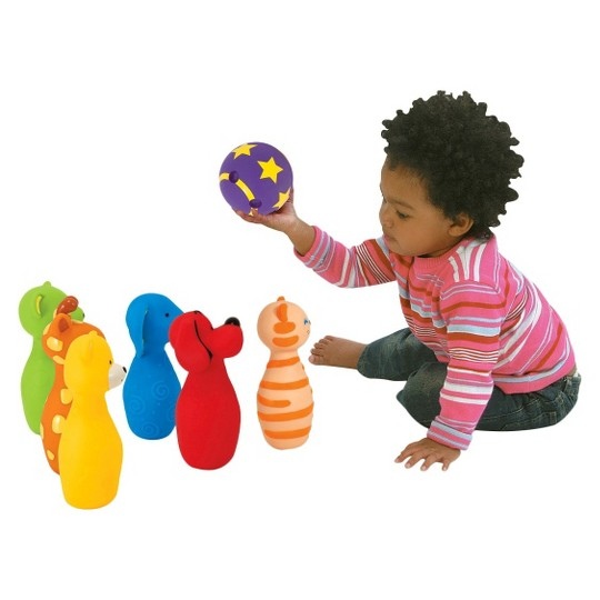 Melissa & Doug K's Kids Bowling Friends Play Set and Game With 6 Pins and Convenient Carrying Case image number null