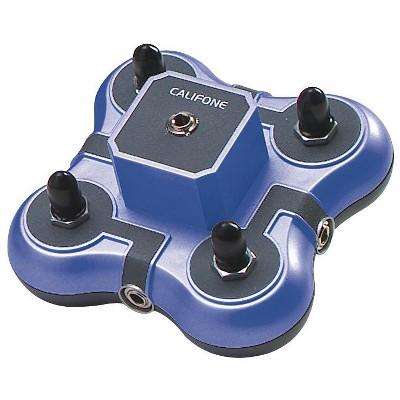 Califone Listening First 1114-BL Stereo Jackbox, 4-Position, Blue