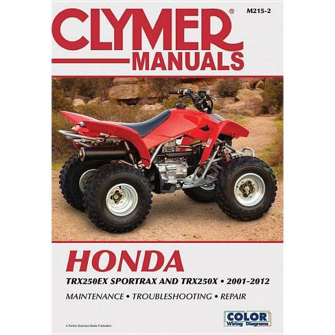 Honda Trx250ex Sportrax & Trx250x 2001-2012 - (Clymer Manuals: Motorcycle Repair) 2 Edition (Paperback) - image 1 of 1