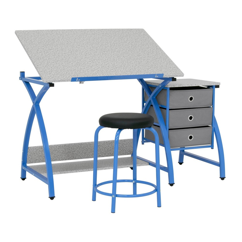 Image of 2pc Canvas & Color Adjustable Top Center Blue/Spatter Gray - Studio Designs