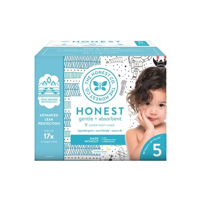 The Honest Company Disposable Diapers Dots and Dashes/Space Travel - Size 5 - 50ct