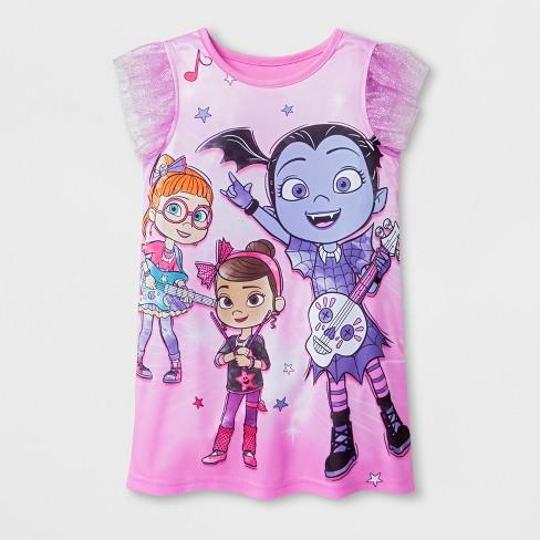 f0c811ffaa Toddler Girls  Vampirina Nightgown - Pink 4T   Target