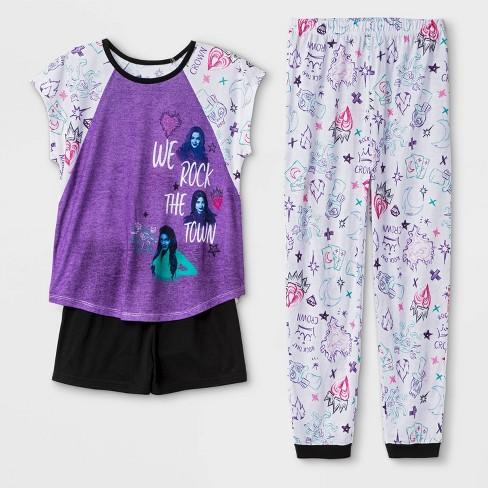 Girls' Descendants 3pc Pajama Set - Purple - image 1 of 1
