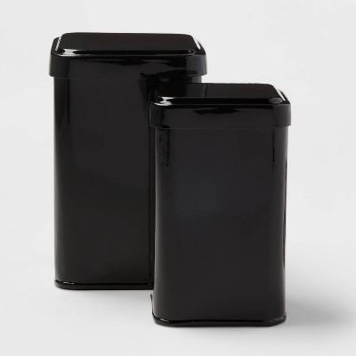 2pk Storage Tins Black - Room Essentials™